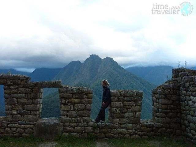 Inca Trail, ruins at Winaywayna