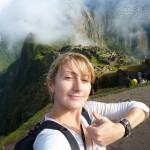 Arriving at Machu Picchu, Peru
