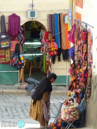 La Paz Bolivia - woman on street