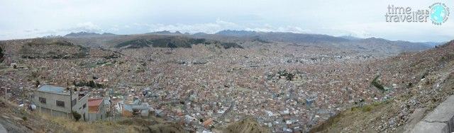 La Paz Bolivia aerial view