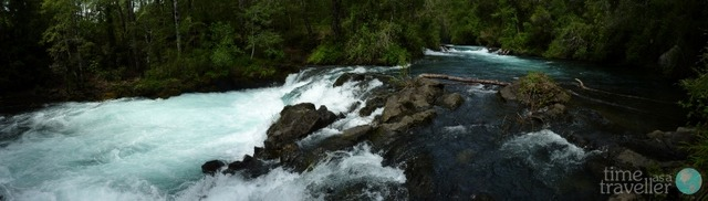 Waterfall at Pucon, Chile