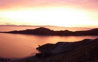Isla del Sol Sunset, Bolivia