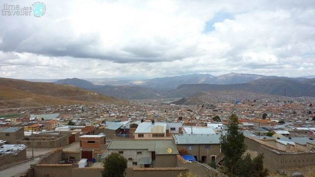 Aerial view of Potosi, Bolivia