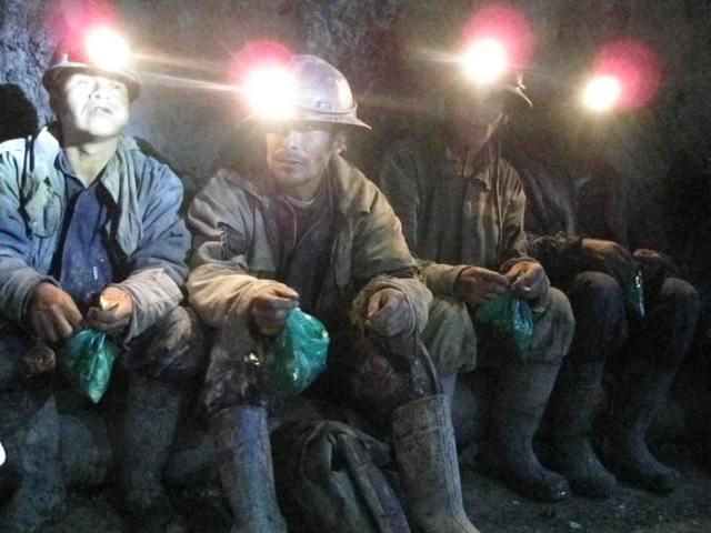 Miners in Potosi, Bolivia