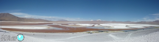 lake in the salt flats, bolivia