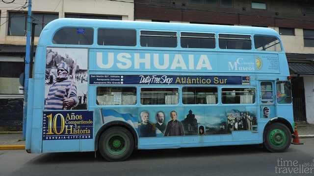 Ushuaia, Argentina. Tourist bus.
